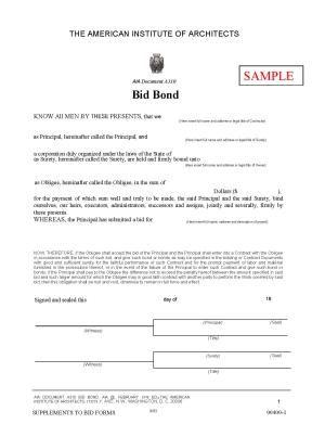 template for bidding a job