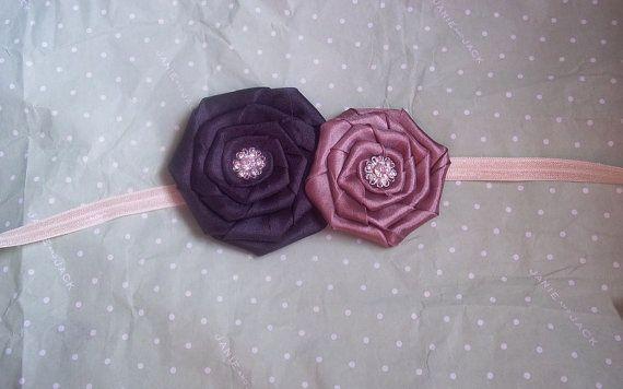 Brown infant Headband earthtone headband by LittleAlmondBlossom, $6.50