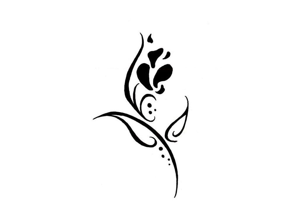 Easy tattoo designs free designs girly flower tattoo wallpaper