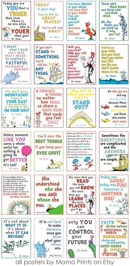 Dr Seuss Lds Girls Camp Posters Seuss Classroom Seuss Quotes