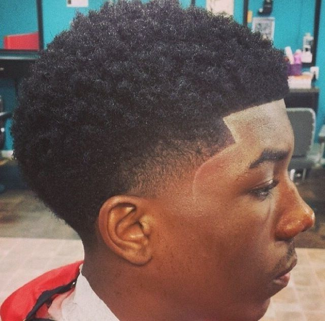 Black Men Low Taper Fade Hairstyle