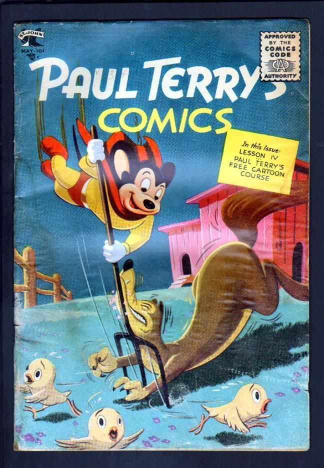 from $45.0 - Paul Terry's #Comics 125 4.5 Vg 1955 St John Mighty Mouse Scarce Last Issue