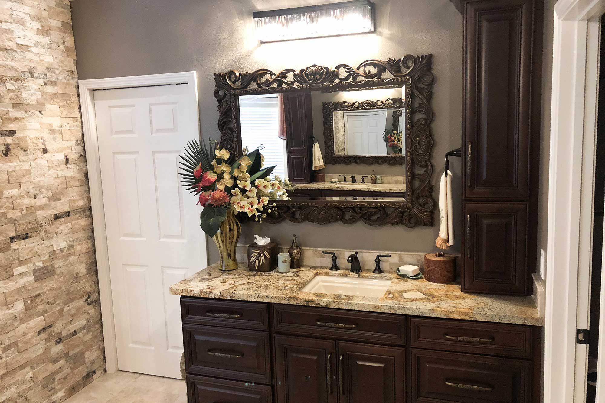 Bathroom cabinet   Tuscan inspired, Bathroom design, Cabinet