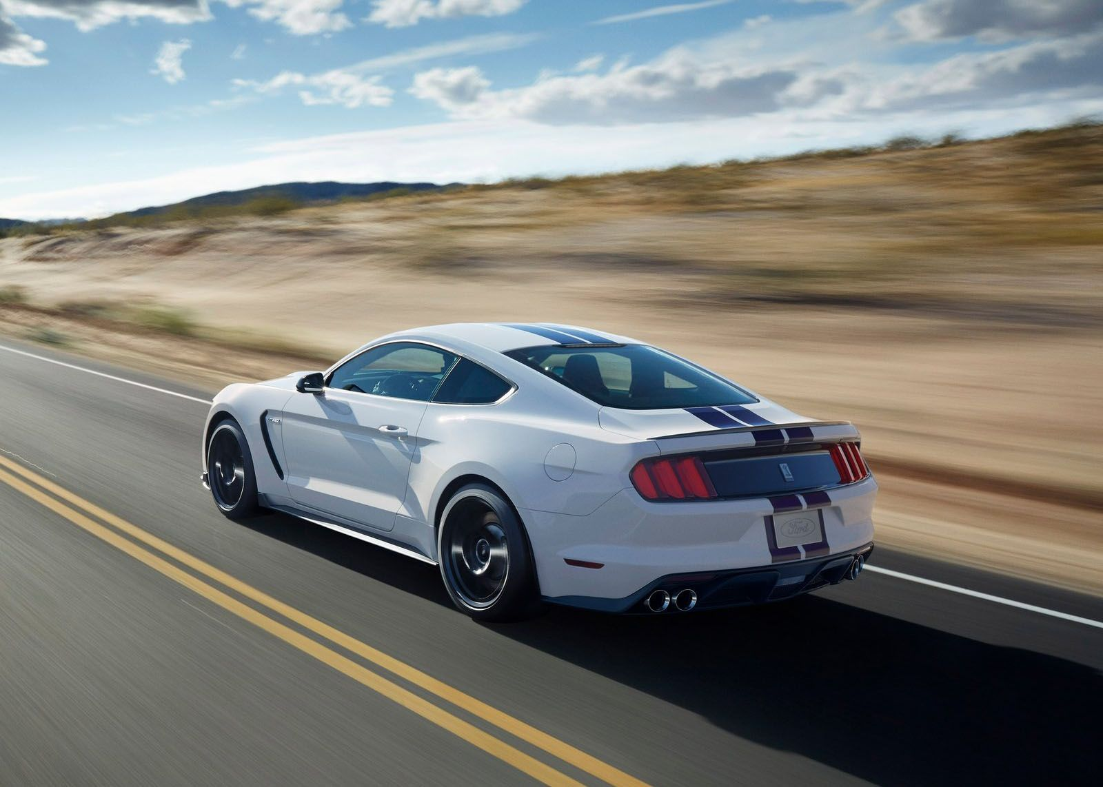 All Types mustang gt350 2016 : Shelby GT350 Mustang In White With Blue Stripes Is 500 HP Of ...