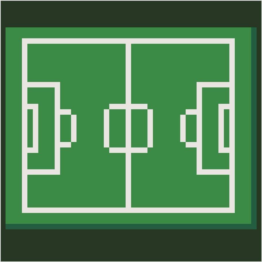 Coloriage Et Illustration Dun Terrain De Football En Pixel