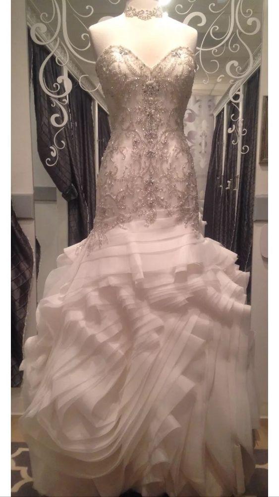Maggie Sottero Wedding Gown Bridal Dress Ivory 12 Aurora Sexy ...