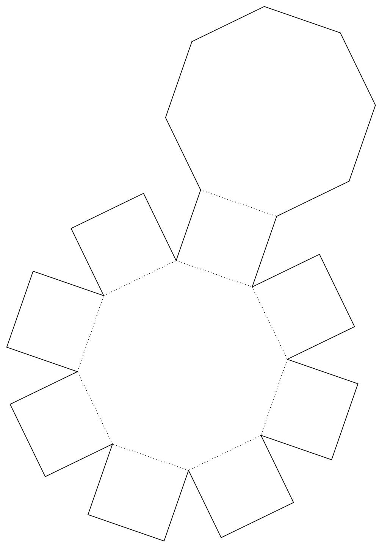 3d Pentagonal Prism Net Octagonal prism in real life