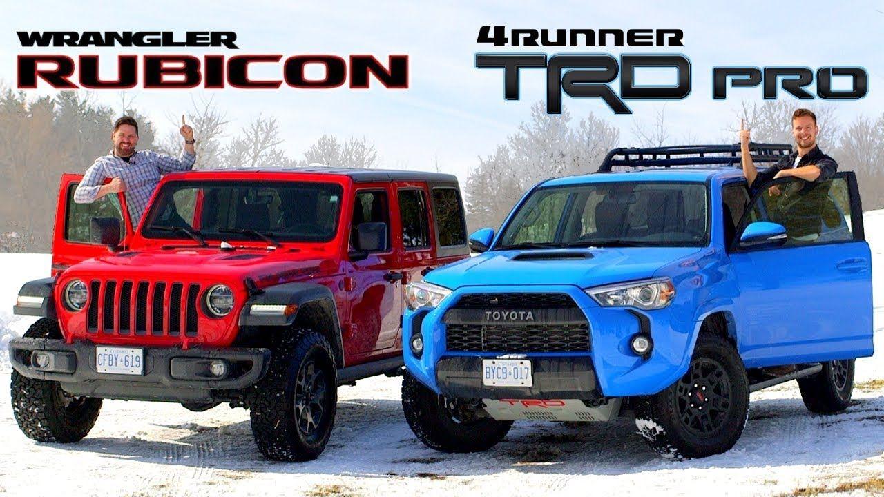 2019 Toyota 4runner Trd Pro Vs Jeep Wrangler Rubicon Face Off Toyota 4runner 4runner Trd Pro Toyota 4runner Trd
