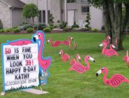 Lawn Sign and Lawn Ornament Rentals Party decor ideas Pinterest
