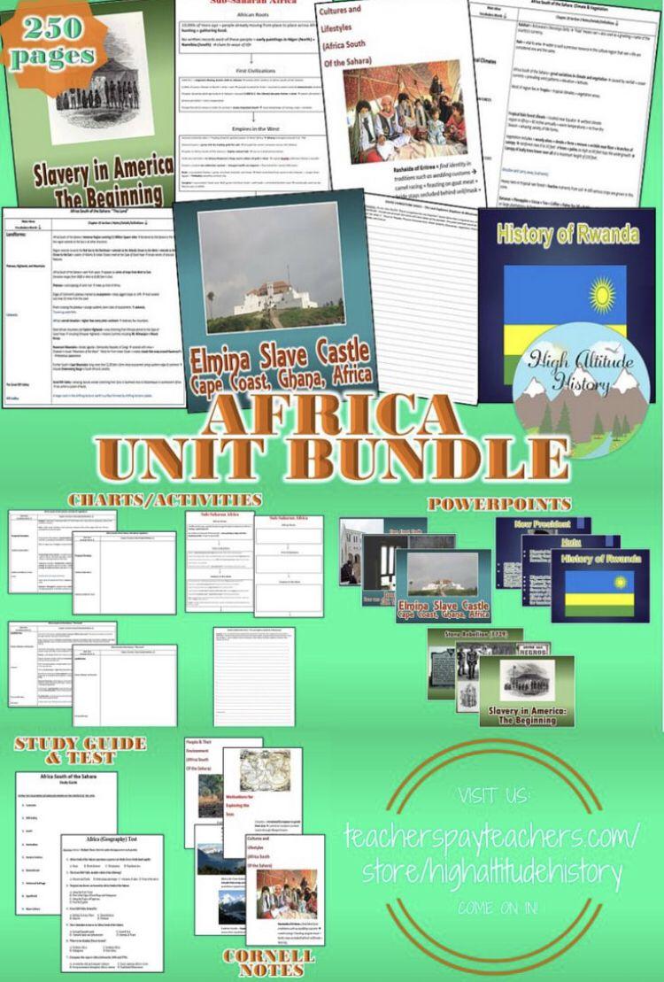 Africa Unit Bundle (Geography)   TpT Store Board   Social studies