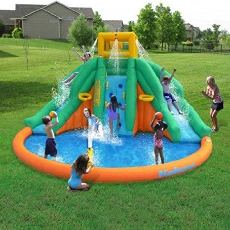 Huge Outdoor Lawn Garden Peak Waterslide Fun Slide Kids ...