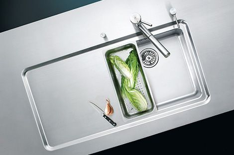 Amazing Suter Counter Integrated Kitchen Sink With Drainer