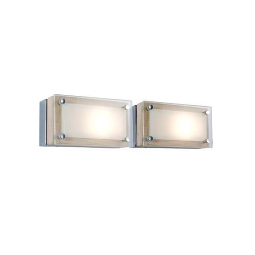 Jesco lighting the rectangular bric element is available in chrome glass or birch wood accents