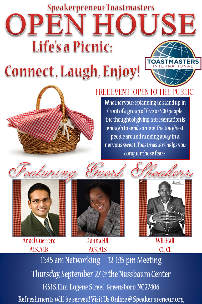 Come Check Out The Hottest Toastmasters Club Speakerpreneur Toastmasters For Our Open House Speakerpreneur Open House Public Speaking Public Speaking Tips