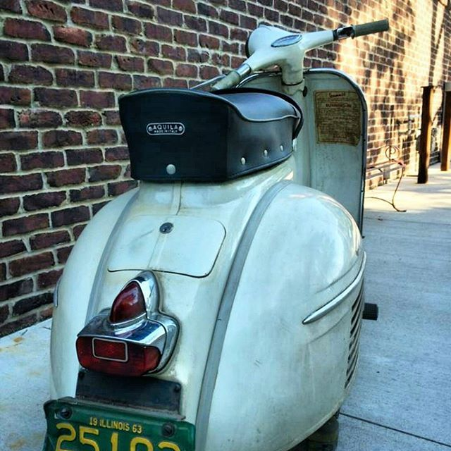 Original paint #vespa Mark 1 with 11km on the odometer Baby got back #scootersex came with the original crate Insane #twostroke by mikewolfeamericanpicker