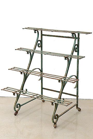 Antique French Wrought Iron Garden Etagere Or Planter With Images