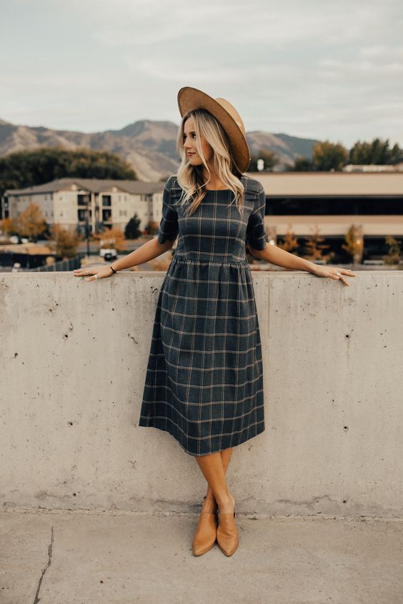 15 chic ways to design a plaid dress for summer – outfit ideas