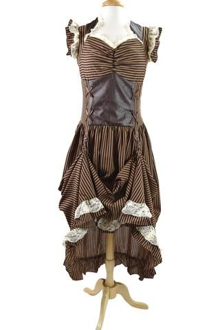 banned long black brown stripe steampunk vintage victorian