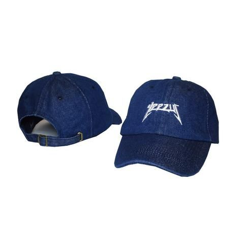 8ac443ab0864d Black letter Yeezus Hat Yeezy Duck Season 1 100% cotton