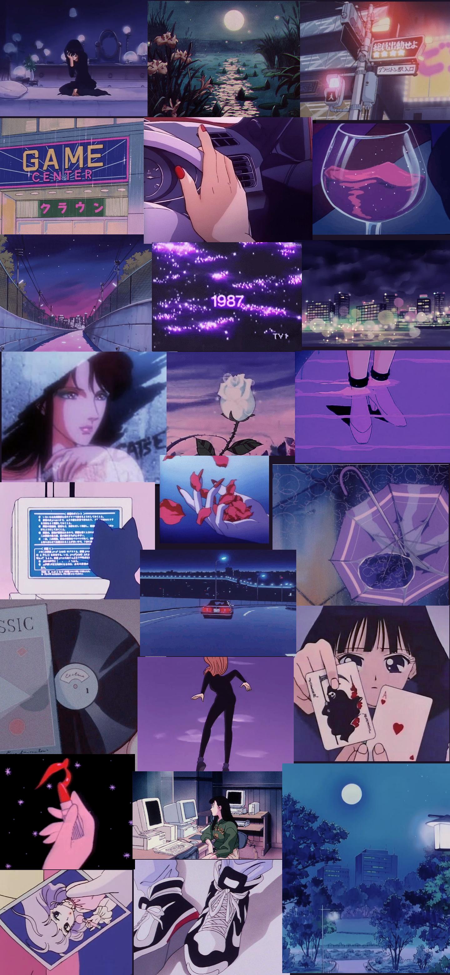 Sailor moon, cat's eye, saturn, luna, neon, tokyo, attack