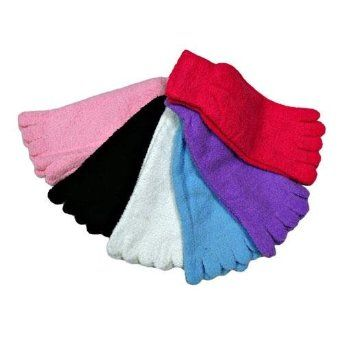 Warm Fluffy Assorted Colors 6 Pack Fuzzy Toe Socks Luxury Divas. $24.99