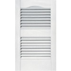 Builders Edge 15 In X 25 In Louvered Shutters Pair 030 Paintable 010140025030 At The Home Depot Vinyl Exterior Louvered Shutters Builders Edge