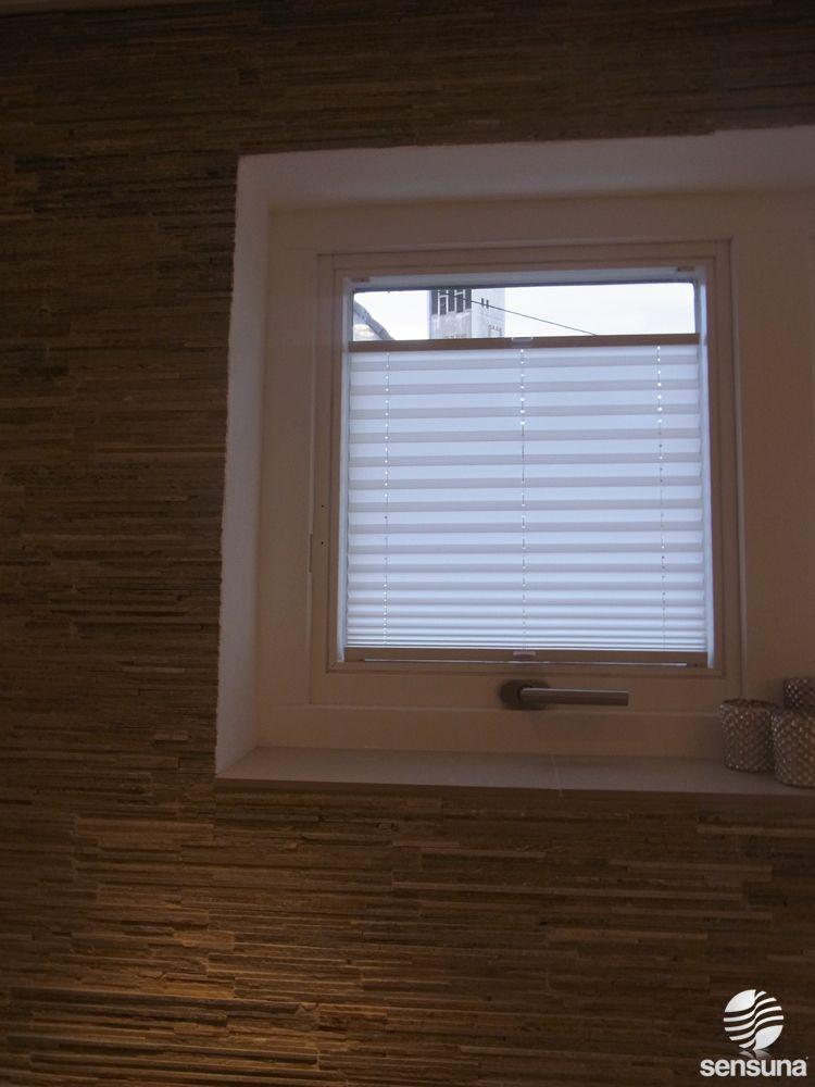 Sensuna Sichtschutz Plissee Im Badezimmer Badezimmer Pinterest