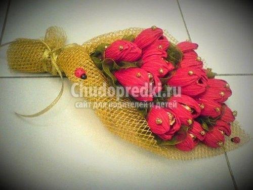 Цветы из гофрированной бумаги (с изображениями) | Цветы ...