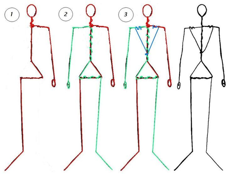 How To Make A Human Figure Wire And Cotton Google Search Doll