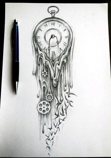 Un pequeño y derretido reloj...