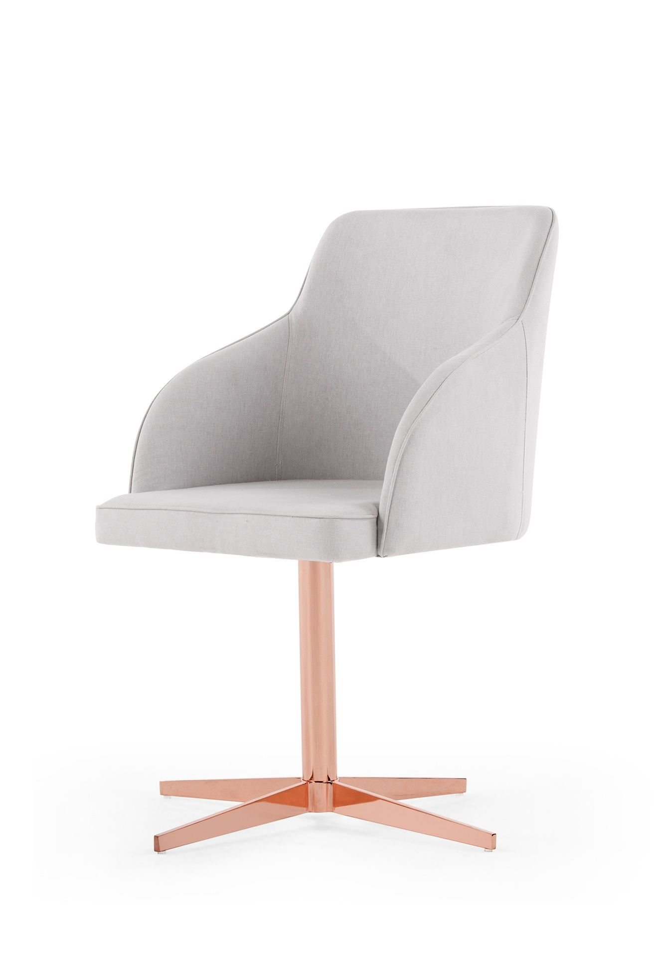 keira office chair, cloud grey and copper | gray, bedrooms and room