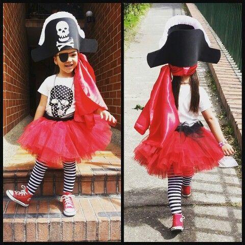 Disfraz De Pirata Super Fácil Hazlo Tú Misma Kids Costumes Girls Kids Costumes Carnaval Costume