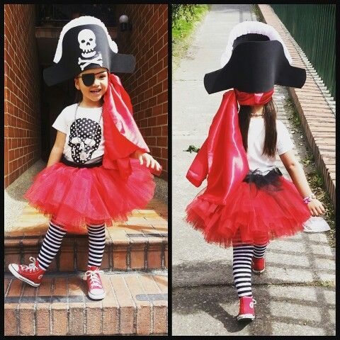 Disfraz De Pirata Super Fácil Hazlo Tú Misma Pirate Girl Costume Kids Costumes Girls Pirate Costume Kids