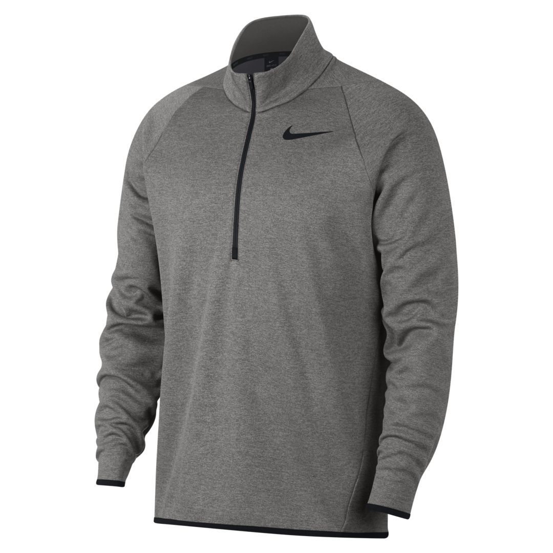 fe8b375b Nike Therma Men's Quarter-Zip Training Top Size 2XL Tall (Dark Grey Heather)