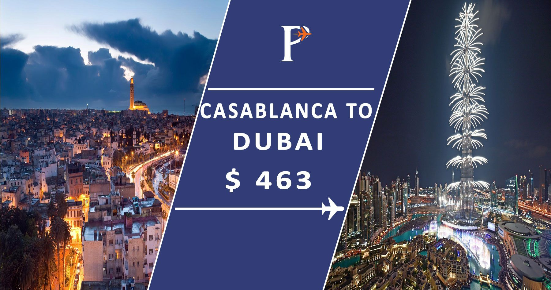 Flights from CasablancatoDubai Search on Puspack for