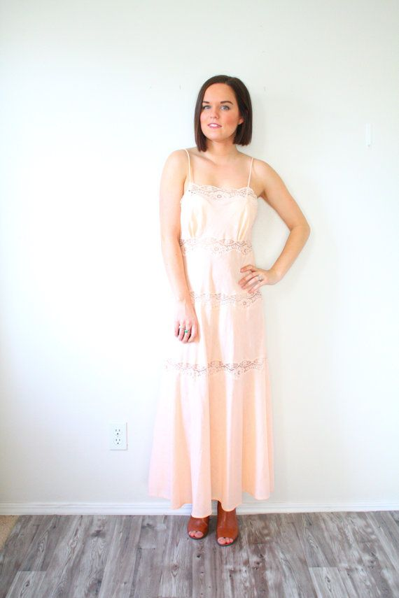 30% OFF SALE Vintage light pink night gown // by BeigeVintageCo ...