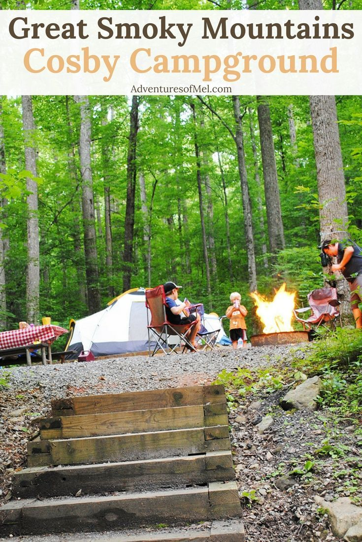 Cosby Campground in Great Smoky Mountains National Park in Tennessee is one of the best, for a developed campground. Campsites tucked into the trees allow for quiet, peaceful camping with a secluded feel. #camping #campvibes #camplife #campground #Tennessee #SmokyMountains #nationalparks #outdoors #adventure