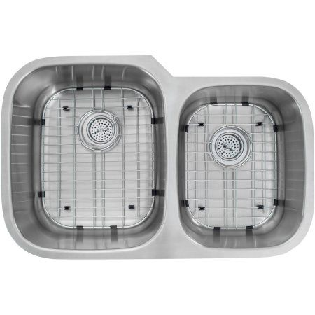 Magnus Sinks 32 inch x 20-3/4 inch 16 Gauge Stainless Steel Double