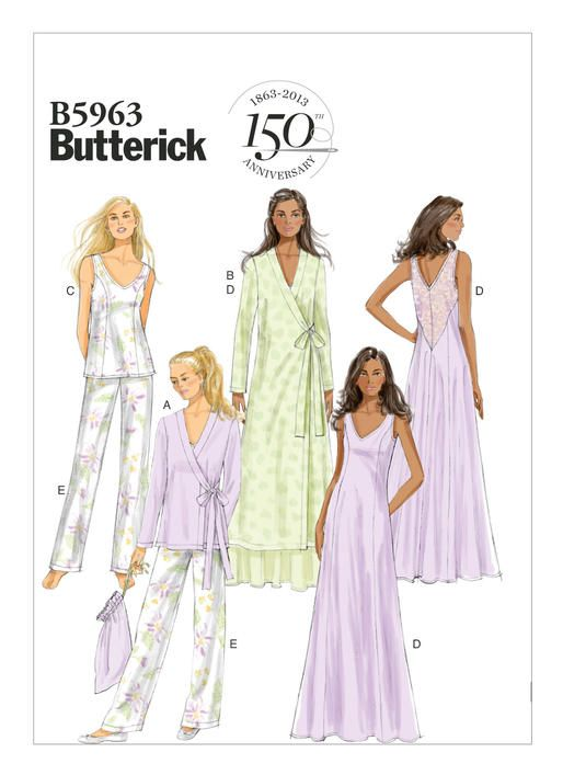 B5963 | Butterick Patterns | Camisola | Pinterest | Side ties, Bag ...