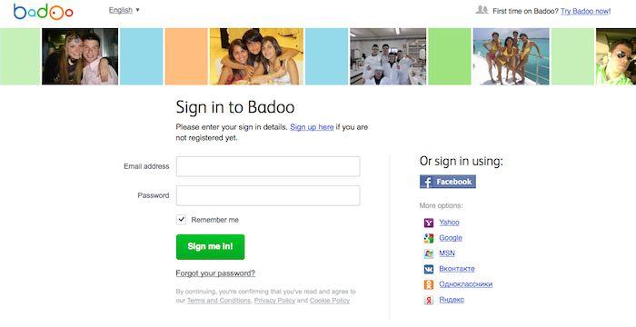 Badoo desktop login