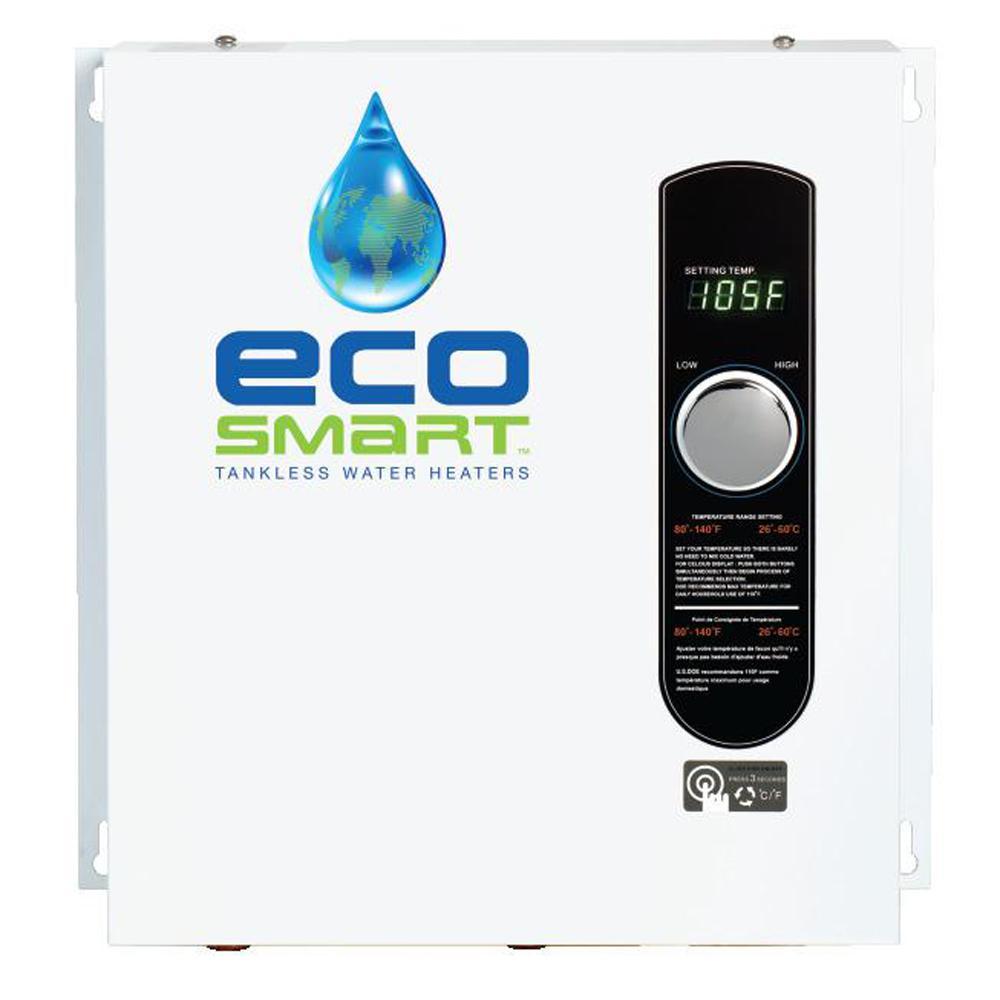 Ecosmart Tankless Water Heaters 24 Kw Self Modulating 4 6 Gpm Electric Tankless Water Heater Tankless Hot Water