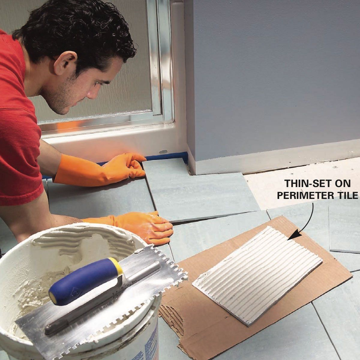 How To Install Ceramic Tile Floor In The Bathroom In 2020 Ceramic Floor Tiles Tile Floor Tile Floor Diy
