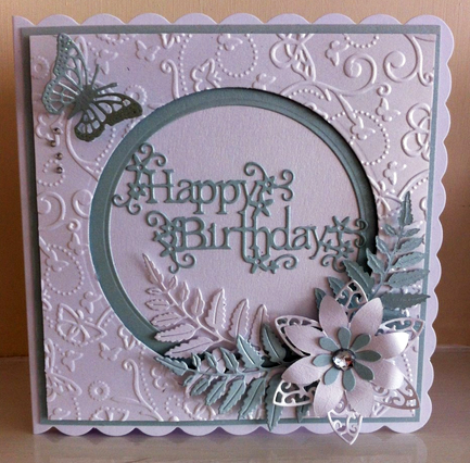 Pin By Sarah Downes On Your Cards Pinterest Birthday Cards Embossed Cards Floral Cards