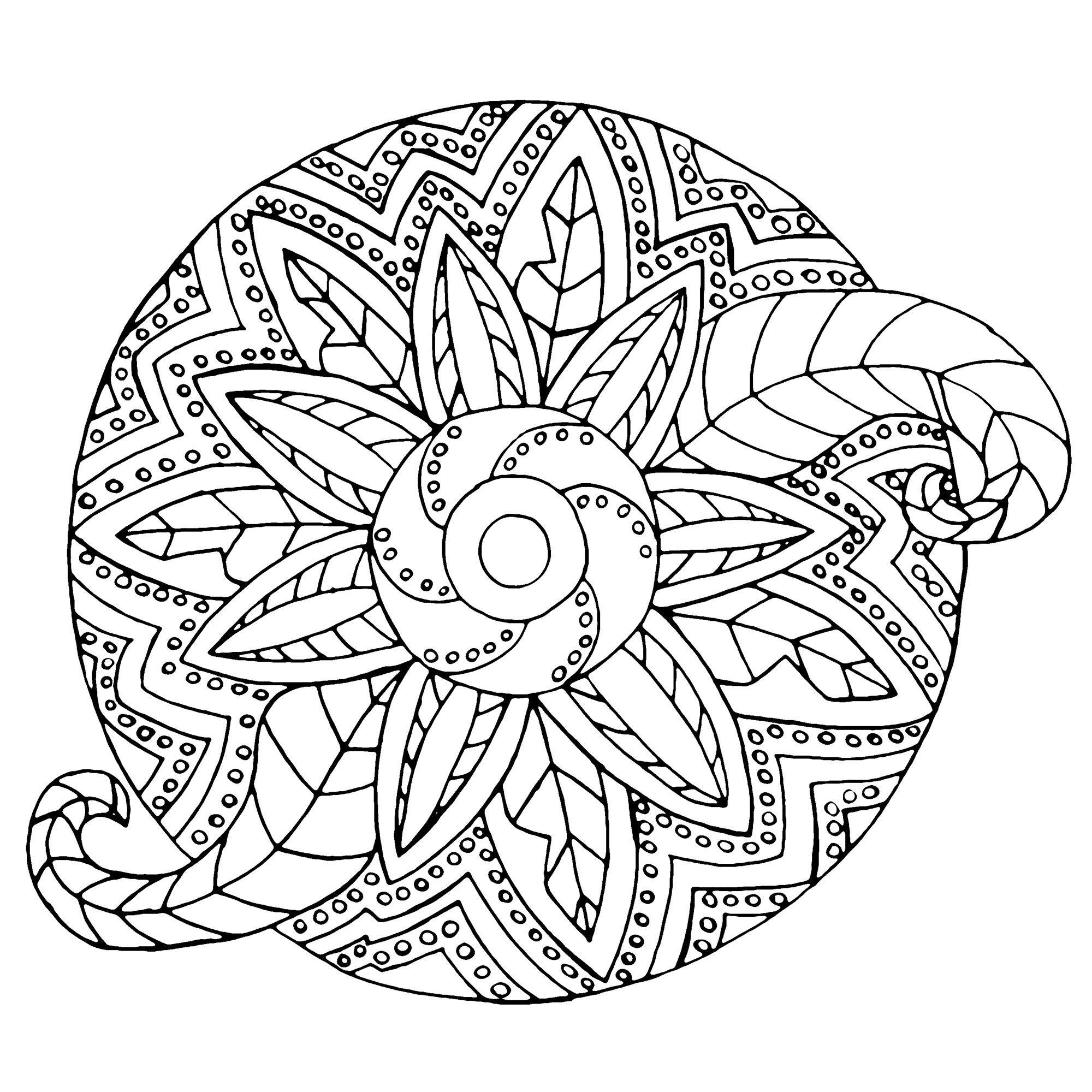 Mandala Metallic Vegetal Mandalas Coloring Pages For Adults