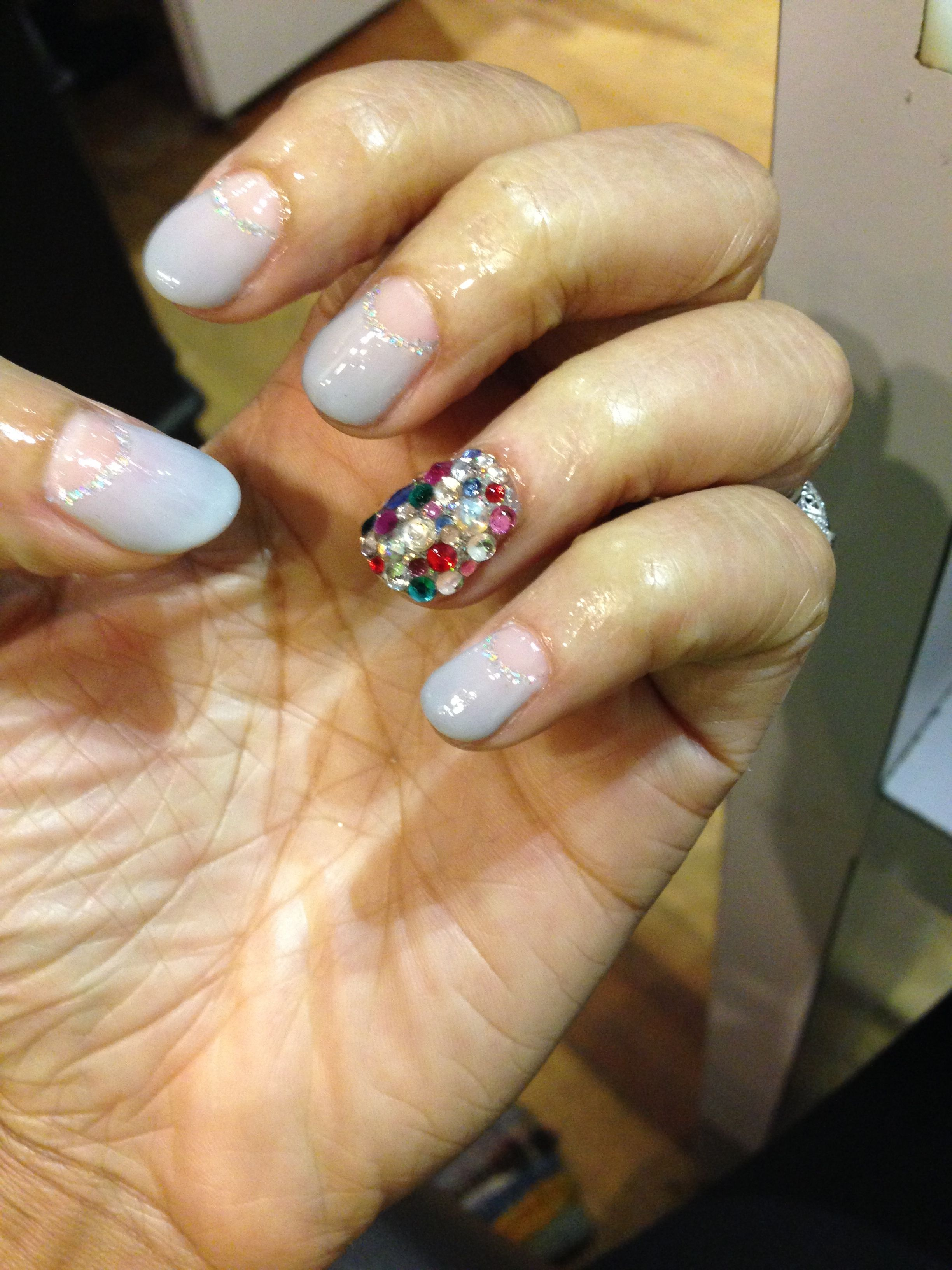 Calgel nails for one of my besties' weddings this past weekend -Oh My Nails! NYC