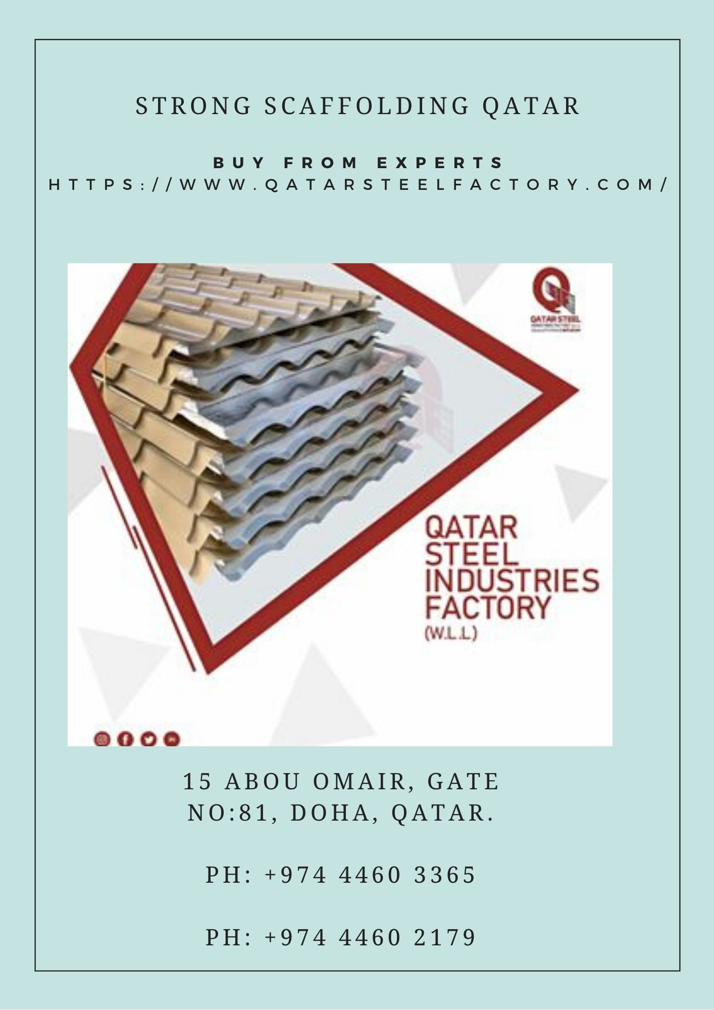 For Stable And Strong Scaffolding Qatar Only One Maker Is Dependable And You Have Guessed The Name Right This Ti In 2020 Scaffolding Corrugated Roofing Steel Companies