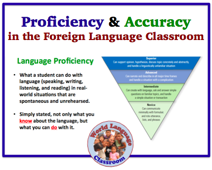 Language Proficiency And Accuracy In The Foreign Language - 1 world language