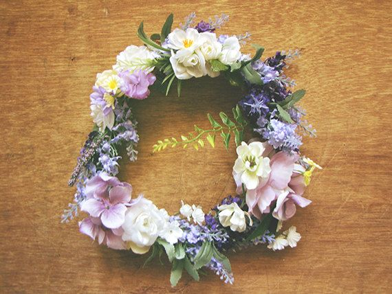 This Item Is Unavailable Purple And White Flowers Floral Floral Crown