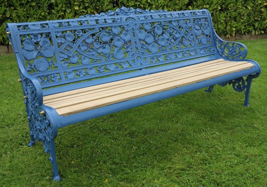Coalbrookdale Cast Iron Nasturtium Pattern Garden Bench Garden Bench Cast Iron Garden Bench Iron Bench