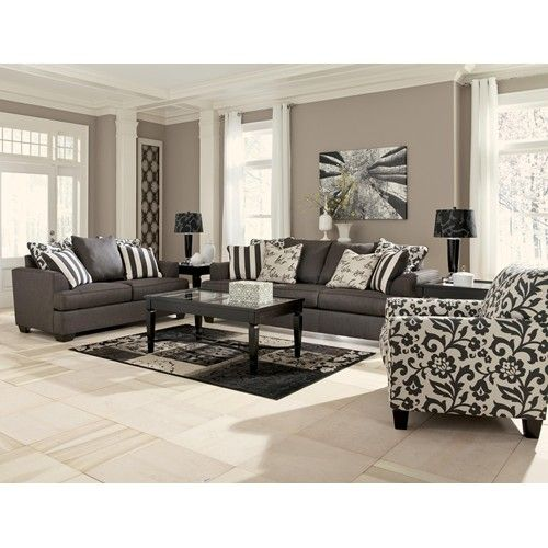 Signature Design By Ashley Levon   Charcoal Queen Sofa Sleeper With Memory  Foam Mattress   Del